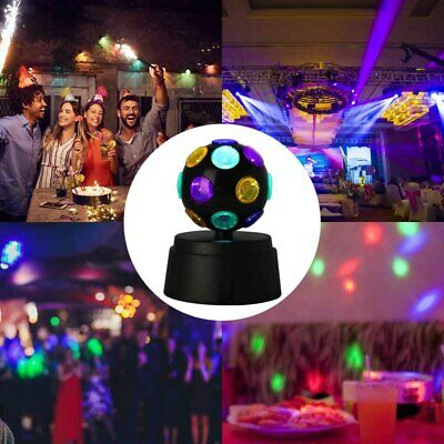 £8.99 • Buy Disco Light Ball Crystal Party Rotating LED Magic Stage Club DJ Lamp Battery
