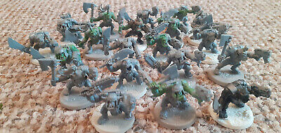 £13 • Buy Warhammer 40k Orks Boyz X 20 Assembled And Very Basic Paint