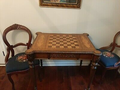 $1500 • Buy Maitland Smith Game, Chess And Checkers  Table Furniture Chippendale