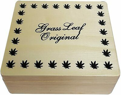 £5.99 • Buy LARGE Wooden Rolling Box Grass Leaf Tobacco Stash Smoking Storage Compartments