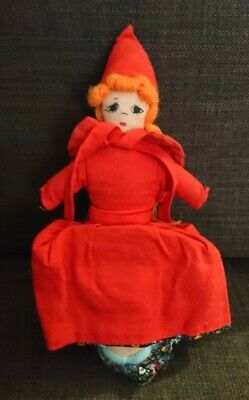 £5 • Buy VINTAGE TOPSY TURVY REVERSIBLE DOLL - LITTLE RED RIDING Hood  AND GRANDMA