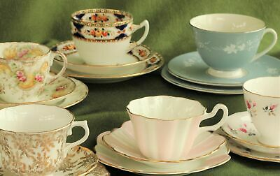 £10 • Buy Vintage Bone China Tea Cup, Saucer And Side Plate Trios, Inc Royal Doulton