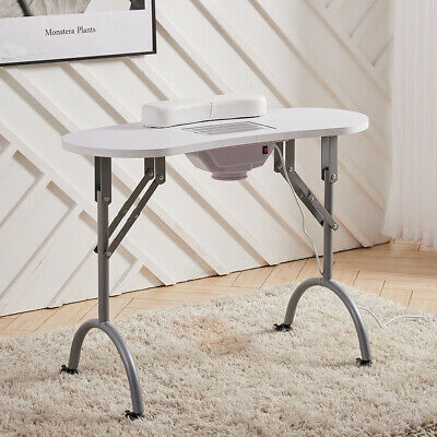 £99.95 • Buy Portable Folding Manicure Table Nail Salon Desk Dust Collector Work Station Cart