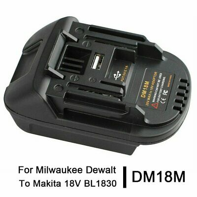 AU20.59 • Buy Battery Adapter For Makita Lxt Tools Convert To Milwaukee M18 18V Battery