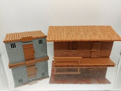 £59.99 • Buy Timpo Toys Original Us Wild West Cowboys Ranch House And Jail Please Read