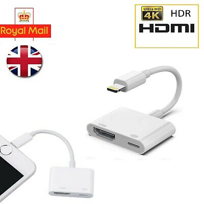 £8.49 • Buy Light To HDMI Digital Cable Adapter For IPad IPhone X 6 7 8 Plus IPad To TV