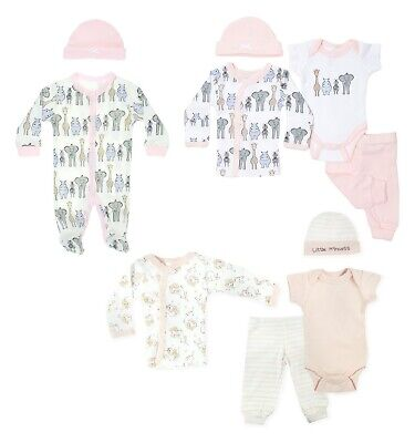 £11.45 • Buy Tiny Baby Girls Layette Clothing Set Starter Outfit Hat Babygrow NEW Premature