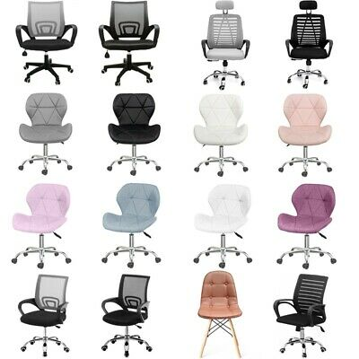 £37.89 • Buy Mesh/Faux Leather Computer Chair Office Chair Swivel Lift Cushioned Adjustable