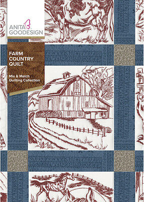 $13.99 • Buy Anita Goodesign Farm Country Quilt Embroidery Machine Design CD NEW