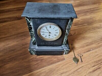 £99.99 • Buy Antique French Slate & Marble Mantle Clock