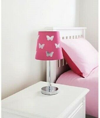 £107.92 • Buy New Cut Out Kids Table Lamp Hot Pink Butterfly Home Decor