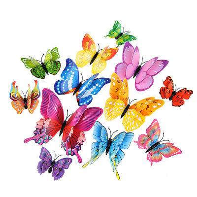 AU5.85 • Buy 12PCS 3D DIY Wall Decal Stickers Butterfly Home Room Art Decor Decorations AU