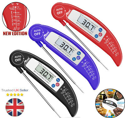 £4.99 • Buy Digital Food Thermometer Probe Cooking Meat Temperature BBQ Kitchen Turkey Jam