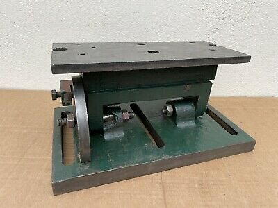 £40 • Buy Milling Drilling Tilting Angle Table Plate Base Adjustable 11  X 5  Not Slotted