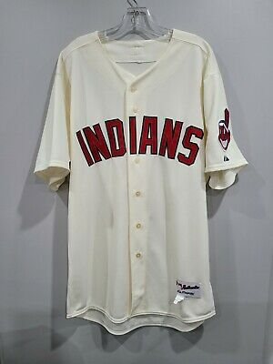 $149.99 • Buy Rare Majestic Authentic Cleveland Indians Team Game Issued Cream Jersey 48 +1 XL