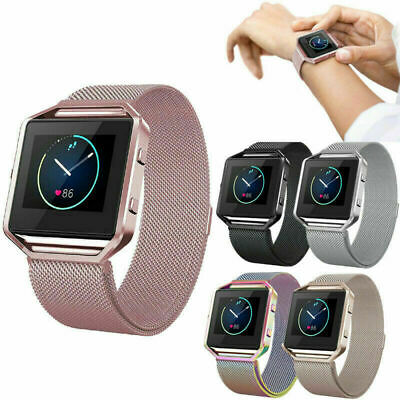 AU17.42 • Buy Milanese Magnetic Wrist Band Strap +Metal Frame Replacement For Fitbit Blaze