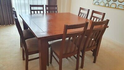 AU400 • Buy 8 Seater Solid Timber Dining Table And Chairs