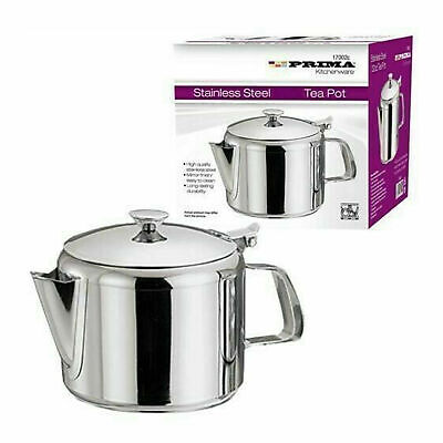 £9.99 • Buy Stainless Steel Metal Teapot Tea Coffee Cafe Kitchen Lid Pot Catering 24oz 750ml