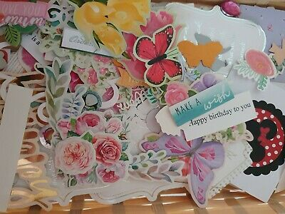 £2.99 • Buy Craft Room Clearout Card Toppers Die Cuts Sentiments Bundle 50pcs