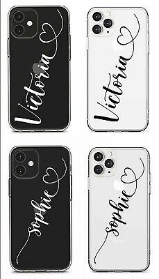 £4.79 • Buy Name And Hearts Personalised Clear Silicone Phone Case For Iphone/samsung/huawei