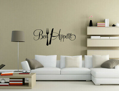 £4.80 • Buy Bon Appetit Enjoy Your Meal Kitchen Wall Quotes Wall Stickers Wall Art UK  32O