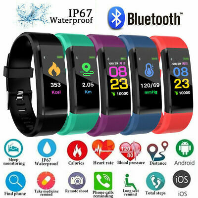 AU13.99 • Buy Fitness Smart Watch Activity Tracker WomenMen Kids Fitbit Android IOS Heart Rate