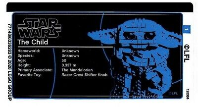 £3.95 • Buy LEGO Sticker Sheet Only For Set 75318 Star Wars The Child - NEW