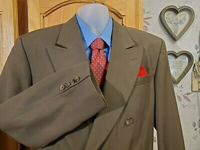 $24 • Buy City Streets 38 Reg Mens Green Taupe Men's Sport Coat Double-breasted Blazer 38R