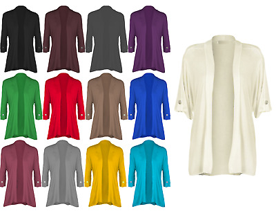 £8.97 • Buy NEW Ladies Short Sleeve Button Open Cardigan Womens Stretch Top  UK Sizes 8-26
