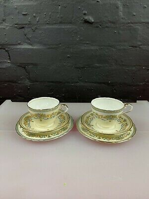 £21.99 • Buy 2 X Aynsley Henley Tea Trios Cups Saucers And Side Plates Set