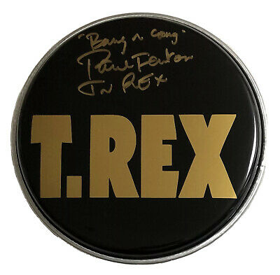 £49.99 • Buy Signed Paul Fenton 8 Inch Drum Head Rare T Rex Marc Bolan Bang A Gong Get It On
