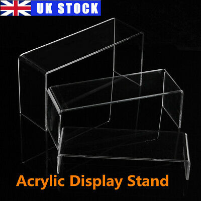 £8.58 • Buy Acrylic Display Shelves Clear Retail Display Plastic Perspex Stands Risers UK