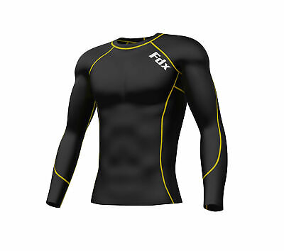 £11.50 • Buy FDX Mens Compression Armour Base Layer Top Long Sleeve Thermal Multi Sport Shirt