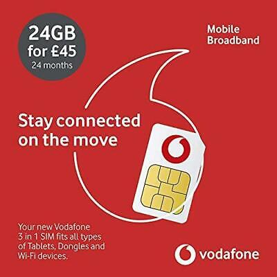 £45 • Buy Vodafone Pre Loaded 24GB Data Sim/Mobile Broadband Valid For Up To 24 Months