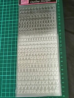 £1.25 • Buy  Anita's Outline Peel Off Sticker - Letters (Silver) FREE P&P On Additional Item