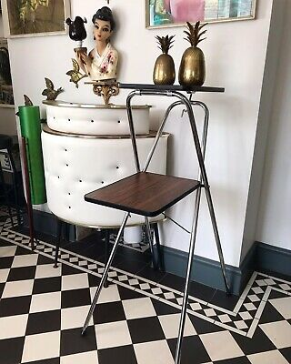 £50 • Buy Mid Century Two Tier Metal/Formica Boots Projector Stand Plant Display Stand