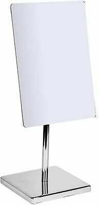 £18.99 • Buy Large Makeup Mirror Rectangle Chrome Shaving Mirror On Stand Chrome