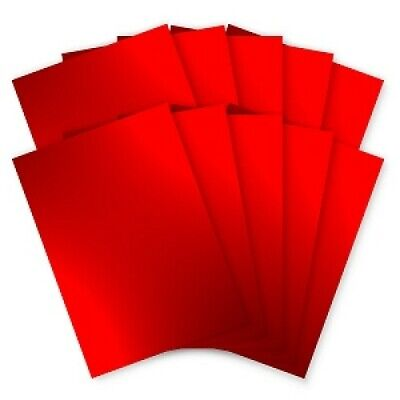 £3.25 • Buy Pack Of 10 Sheets A4 Red Mirror Card