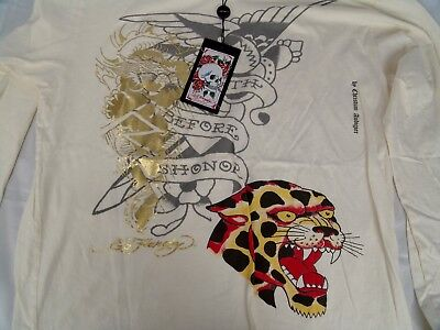 $49.99 • Buy Ed Hardy Made In USA Leopard T-Shirt 100% Cotton NWT Size XL Hand Crafted