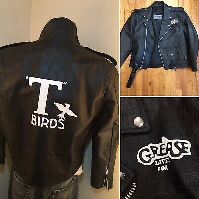 £180.26 • Buy GREASE Live On Fox T-Birds Leather Crew Swag Gang Motorcycle Jacket