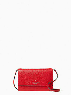 $ CDN90.57 • Buy NEW NWT Kate Spade Pebble Leather Harlow Wallet On A String Hot Chili