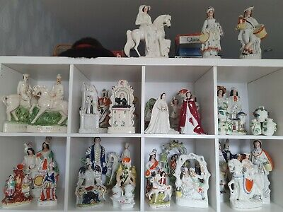 £40 • Buy Staffordshire Flatback Courting Couple Antique ** Large Collection Available !!