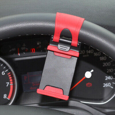 $4.37 • Buy 1× Car Interior GPS Phone Holder Mount Stand Steering Wheel Clip Accessories Red