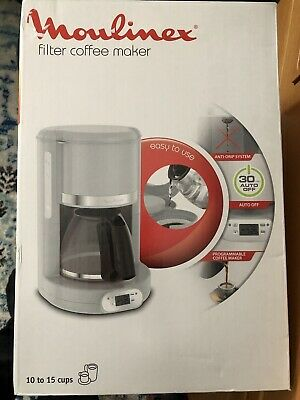 £25.99 • Buy MOULINEX FG380 Filter Coffee Maker Programmable And Anti-drip Systems Grey