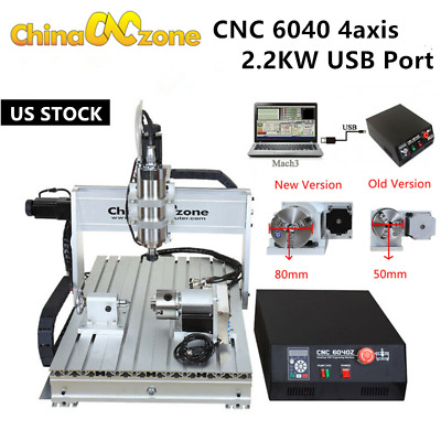 $1804.05 • Buy CNC 6040 4axis Engraver Router Frame Mach3 USB Wood Milling Engraving Machine US