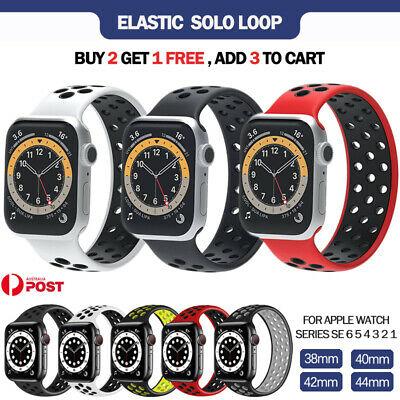 AU9.99 • Buy For Apple Watch Band Series SE 6 5 4 3 Loop Elastic Silicone Strap 38/40/42/44mm