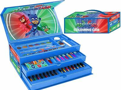 £14.99 • Buy PJ Masks 52 Piece Arts & Crafts Colouring Case Toolbox Children's Character Set