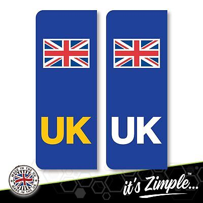 £1.49 • Buy UK CAR NUMBER PLATE STICKERS Union Jack Flag - 1 Pair