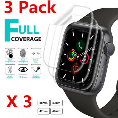 $ CDN5.76 • Buy 3-Pack For Apple Watch IWatch Series 2 3 4 5 6 SE 38/40/42/44mm Screen Protector