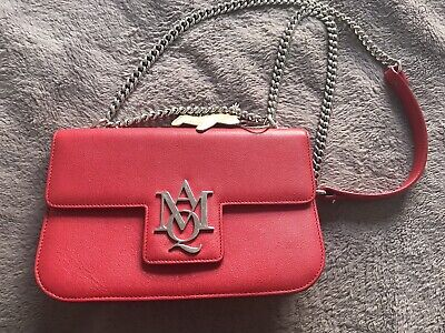 AU799 • Buy Alexander Mcqueen Red Leather Chain Bag